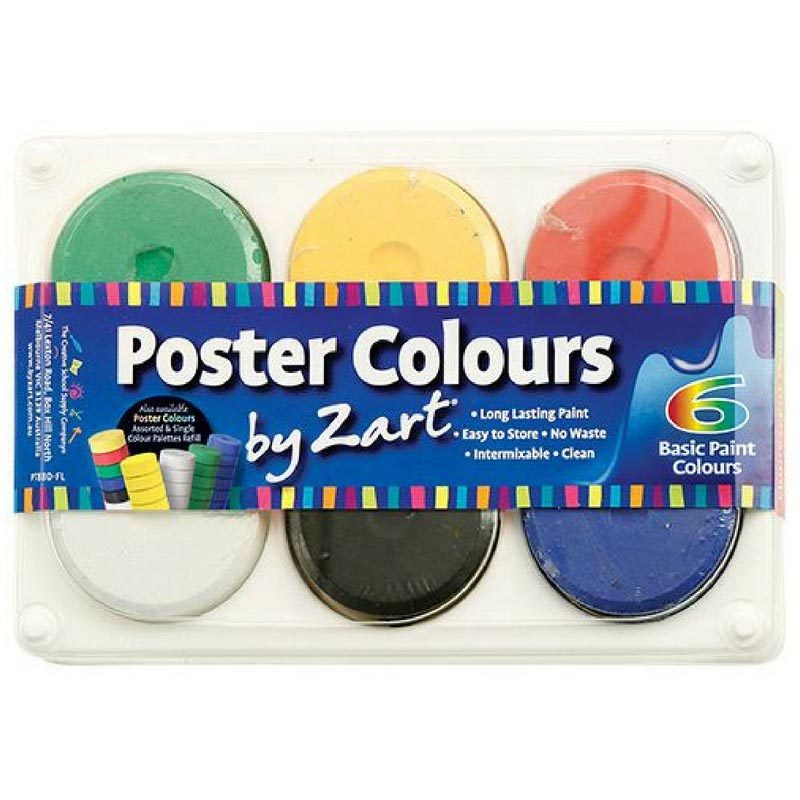 Poster Colours Zart 6 Basic colours