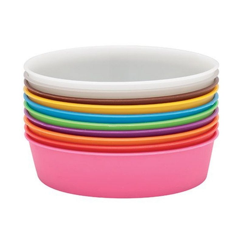 Painting Bowls 13cm Set of 10 Assorted Colours