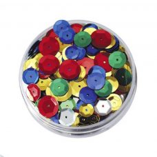 Round embossed sequins in a jar 50g