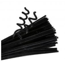 Best quality chenille Stems Black Packet of 100
