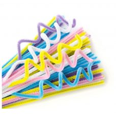 Chenille Stems Pastel 100 Pack by Educational Vantage
