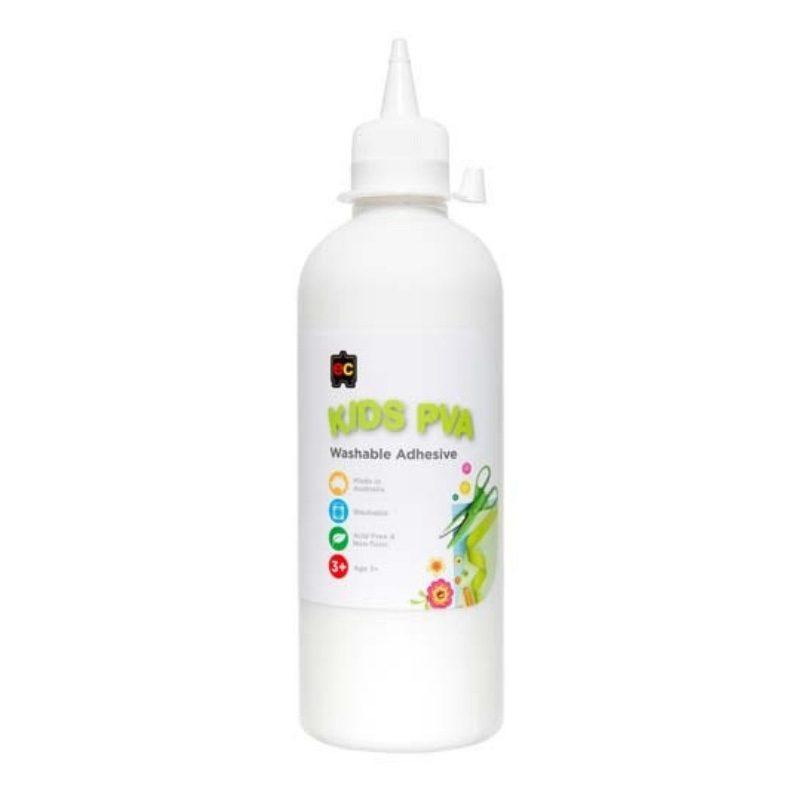Kids PVA Glue Washable 500ml. Australian made glue.
