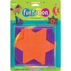 Pack of square, heart, hexagon, star and circle shaped pegboards.