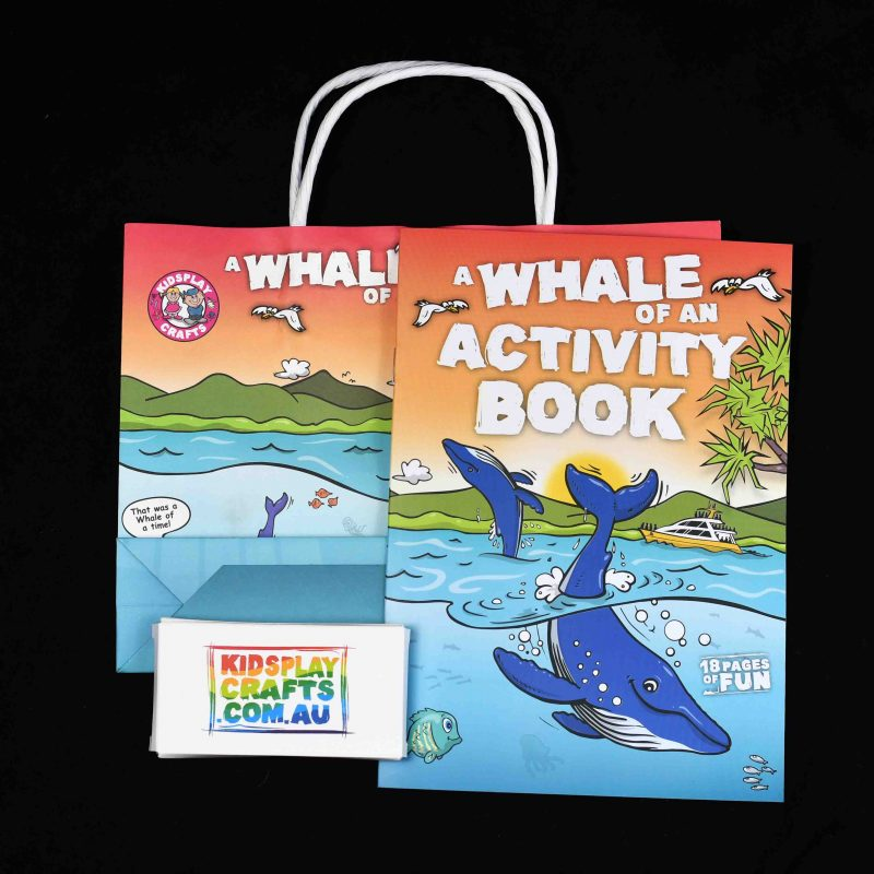 Whale Theme Kids Activity Bag and Book