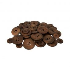 Wooden Buttons Assorted sizes 50 pack