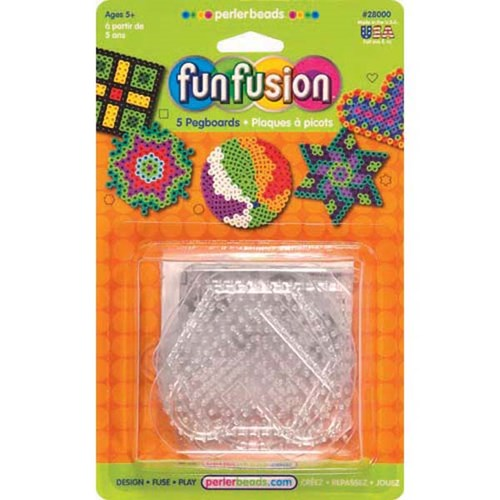 28000 Small Basic Shapes clear pegboard pack of 5