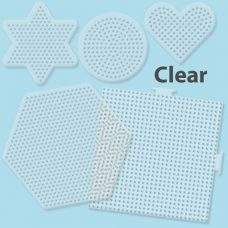 22750 Perler Small and Large Clear Pegboards Pack of 5