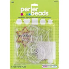 Perler Small and Large Basic Shapes Clear Pegboards Pack of 5.
