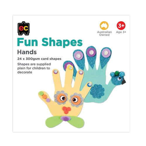 Paper Shapes hands ready for decoration