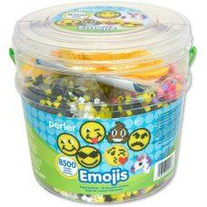 Perler emoji activity bucket.
