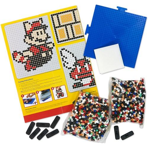 Deluxe Perler Mario Bros Activity Kit back contents