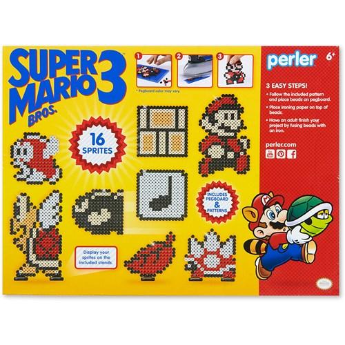 Deluxe Perler Mario Bros Activity Kit back cover