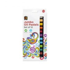 Jumbo Oil Pastels Set of 12 are superior quality, non toxic and rich in colour.