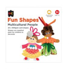 Fun Shapes Multicultural people - paint, decorate and create!