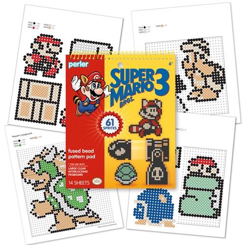 Perler Mario Bros 3 pattern pad back cover 80-22841