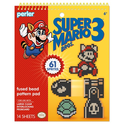 Perler Mario Bros pattern pad 80-22841