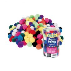 Basics Pom Poms 300s in assorted colours and sizes