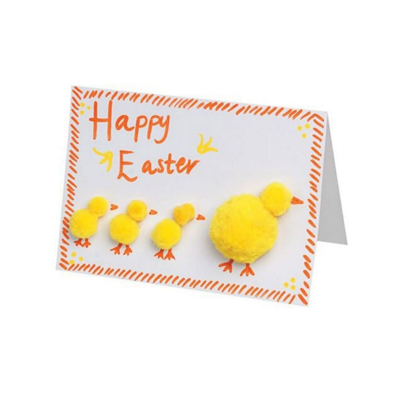 Basics Pom Poms 300s on easter card