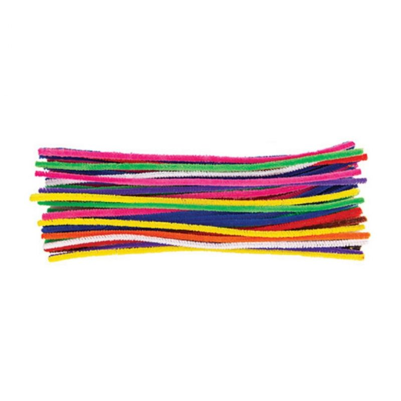 Chenille Stems Assorted Bright Colours Pack of 150