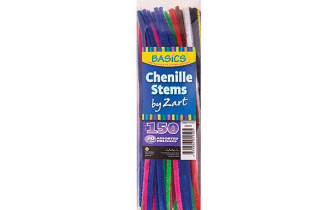 Basics Chenille Stems 30cm Asst 150's