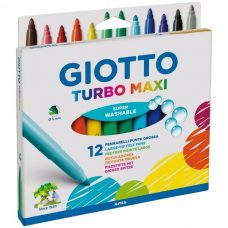 Quality Giotto Turbo Maxi 12 pack felt tip pens