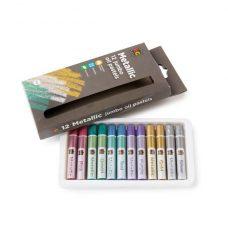 Metallic Jumbo Oil Pastels 12 Pack