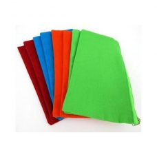 Canvas Pencil Case assorted colours 12 Pack