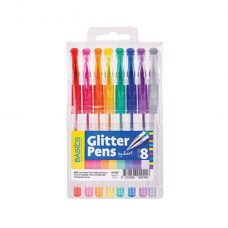 Basics Glitter Pens 8 pack