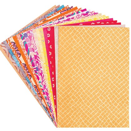 Handmade Paper A4 20 Sheets in Warm Colours