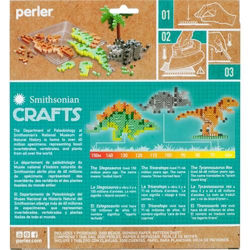 Smithsonian Dinosaur Perler Kit back cover