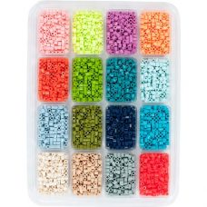 Tropical Bead Tray 16 colours in re-sealable tray.