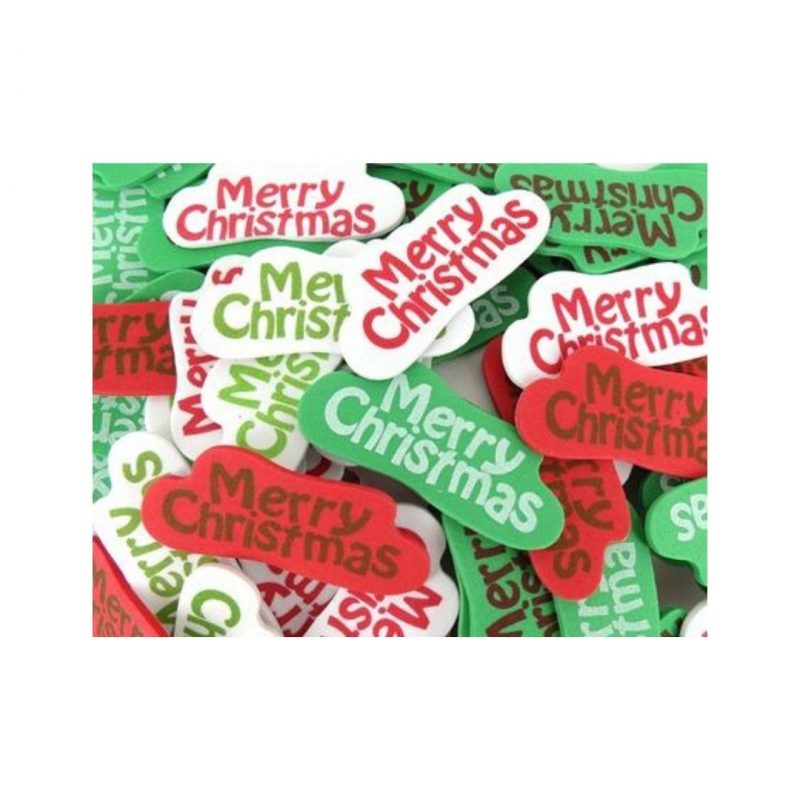 Merry Christmas Foam Stickers 80 pieces