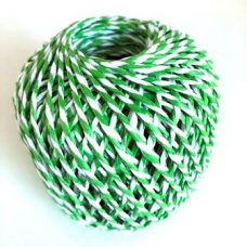 Green and White Paper Rope Ball 20m 2 Ply