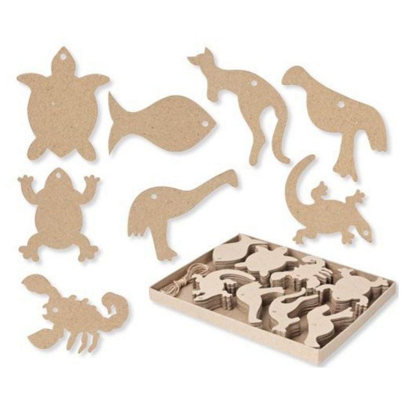 Papier Mache Australian Animals 80 Pack