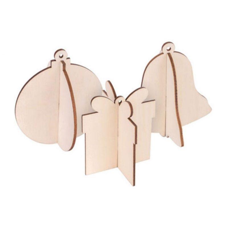 Christmas hangers plywood plain