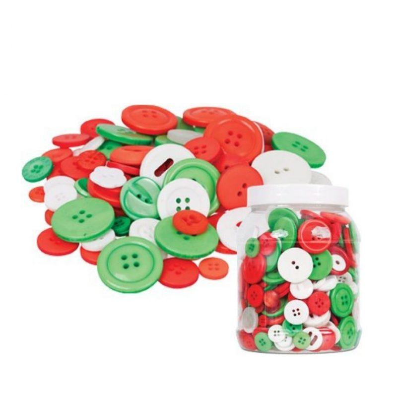 Christmas Buttons 600g