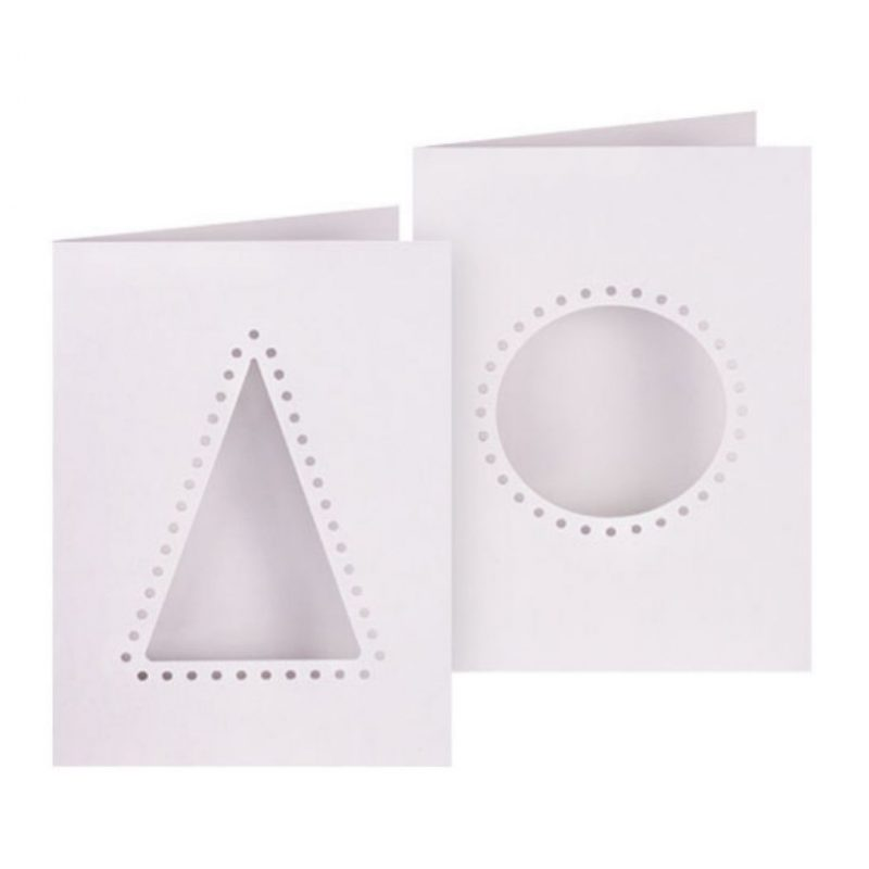 Christmas Cut-Out Threading Card pack of 10