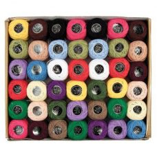 Perle Cotton Thread 42 pack in 18 different colours.