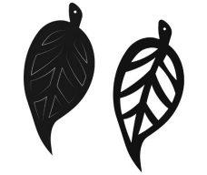 Cardboard leaf shapes