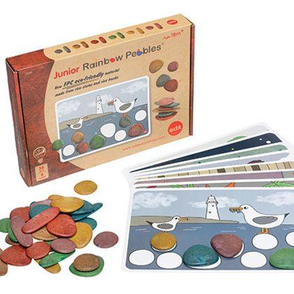 Rainbow Pebbles display