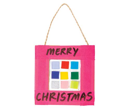 Christmas Cardboard Frame