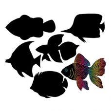Scratch Art Fish Pack of 24