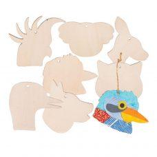 Wooden Australian Animal Hangers 21 pack